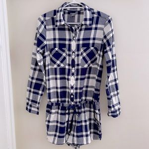 NWT Aerie Plaid Flannel Romper Size Small